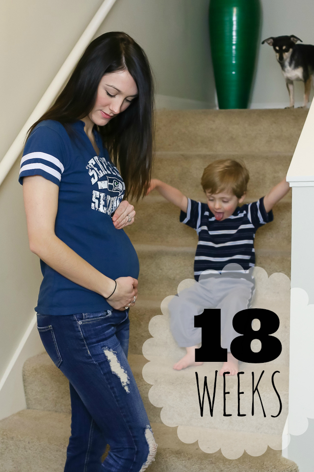 18 Going On 18 Here Are The Interesting Bits: GO TEAM!!! {18 Weeks}