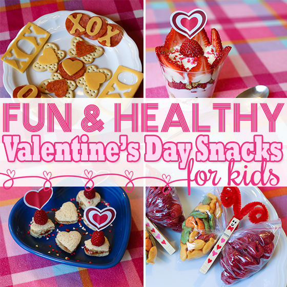 fun healthy vday snacks for kids - Valentine Snacks For School